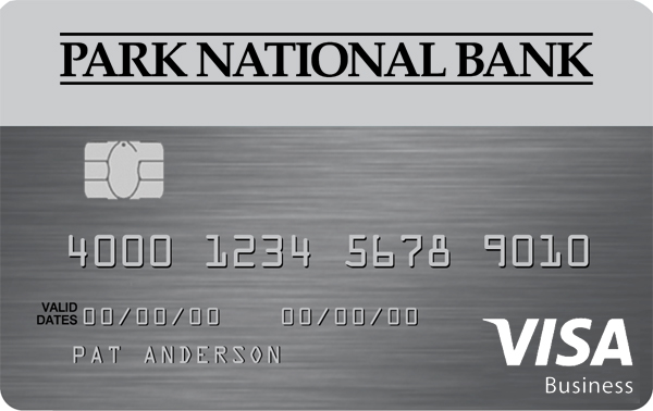 Business credit cards park national visa business platinum card reheart Image collections