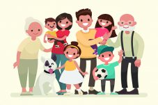 Cartoon of entire family