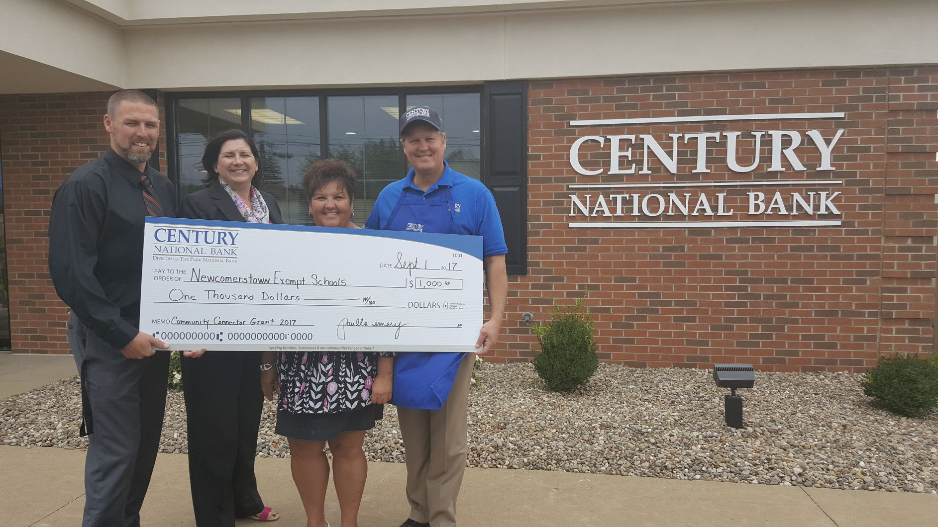 CNB - Newcomerstown School Grant Donation 2017