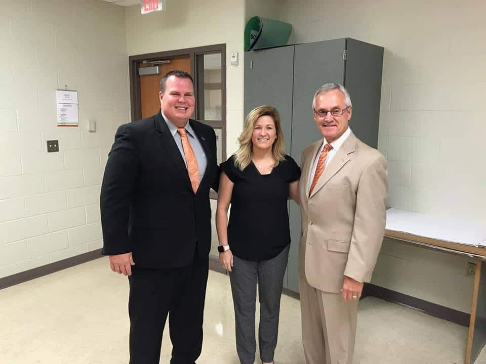 Coach Tressel visits Mansfield Senior High School