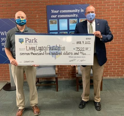 Loudonville Public Library Living Legacy Foundation check presentation