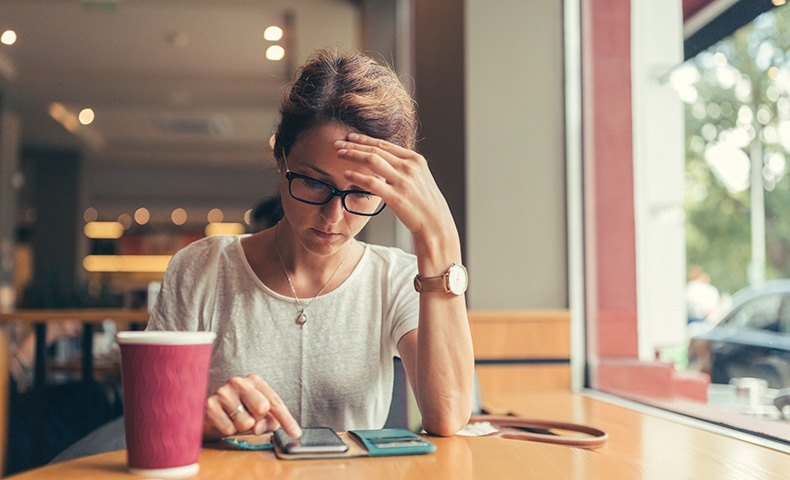 Businesswoman at coffee break